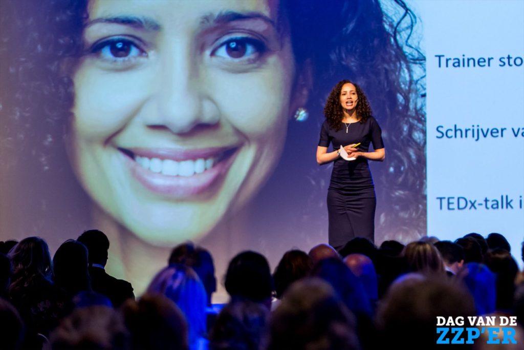 Alexandra Smith was een van de sprekers tijdens de Dag van de ZZP'er op 9 april 2018